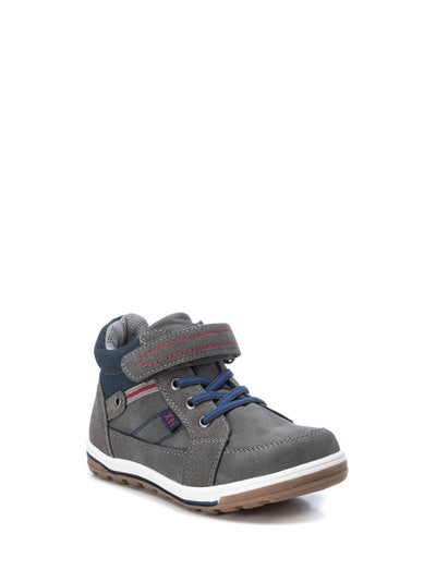 XTI Kids Gray Velcro Ankle Boots