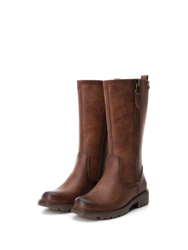 XTI Kids Brown Knee-High Boots