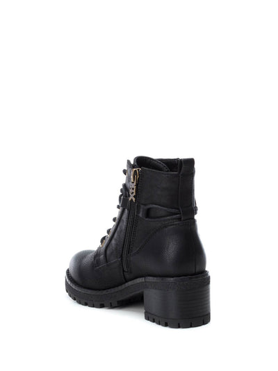 XTI Kids Black Zip Up Boots