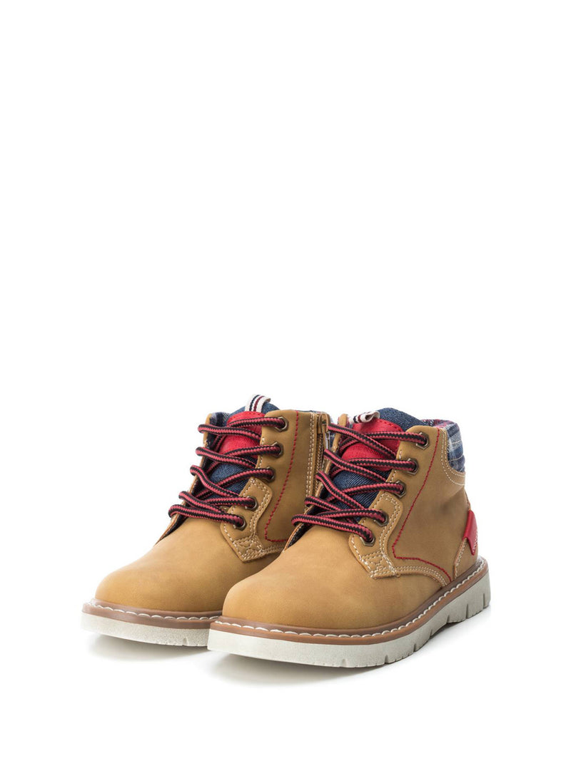 XTI Kids Camel Zip Up Ankle Boots
