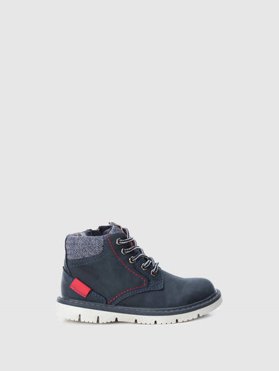 XTI Kids Navy Zip Up Ankle Boots