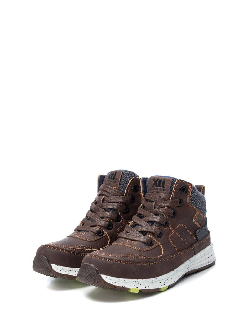 XTI Kids Maroon Lace-up Ankle Boots