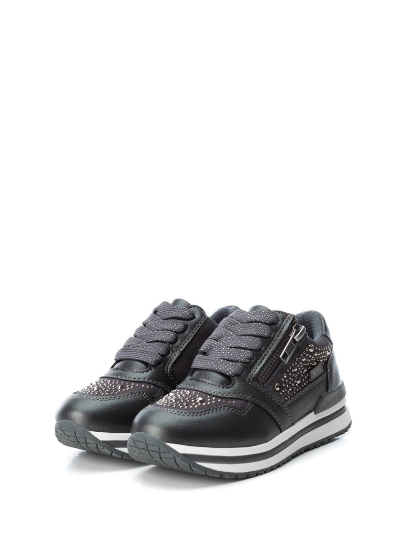 XTI Kids DarkGray Lace-up Trainers