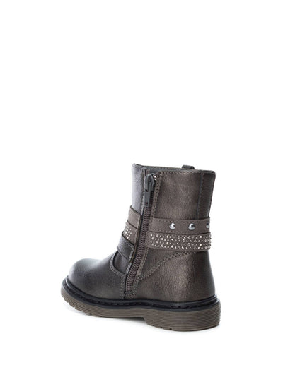 XTI Kids DarkGray Zip Up Ankle Boots