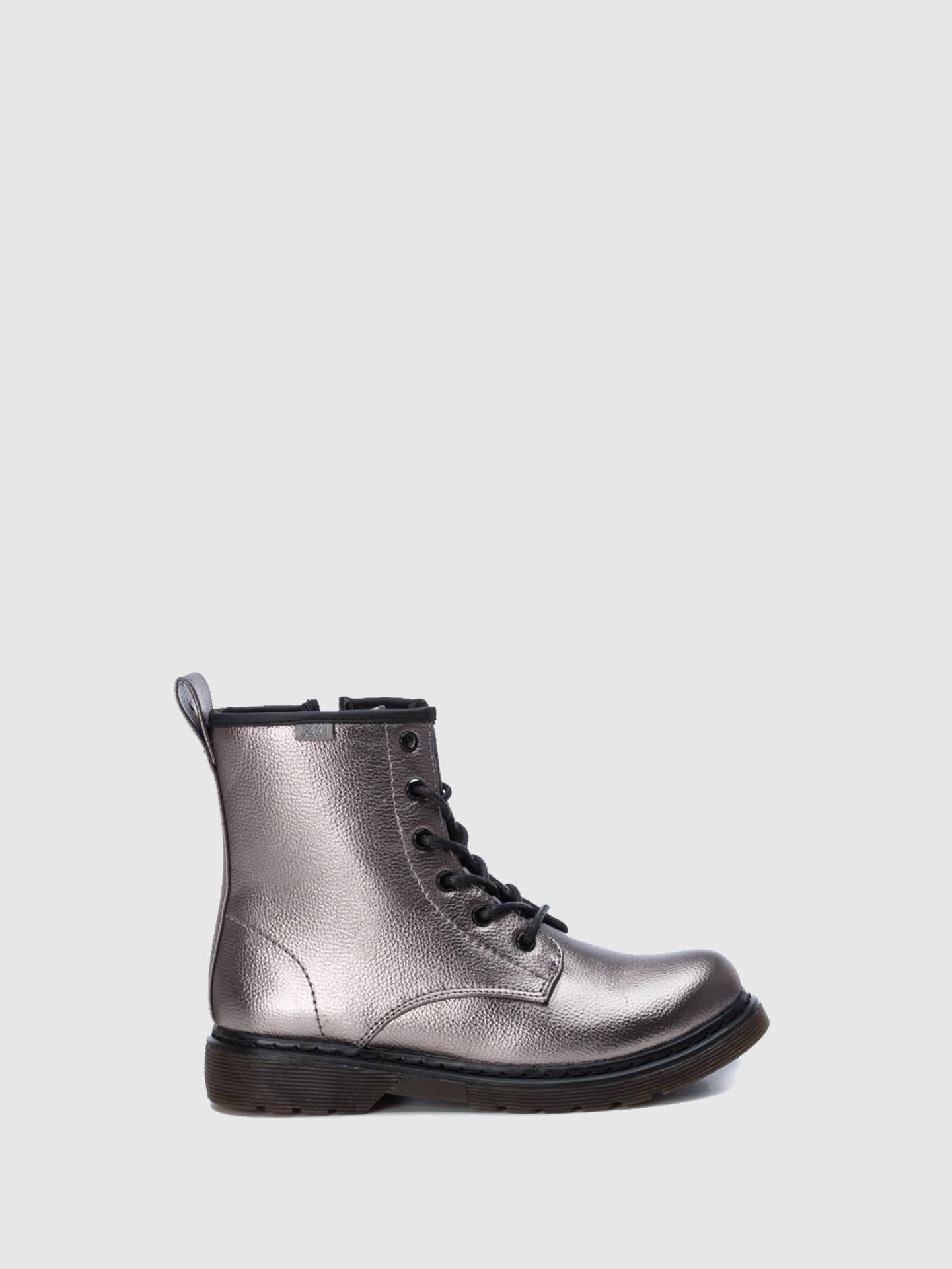 XTI Kids Silver Zip Up Boots