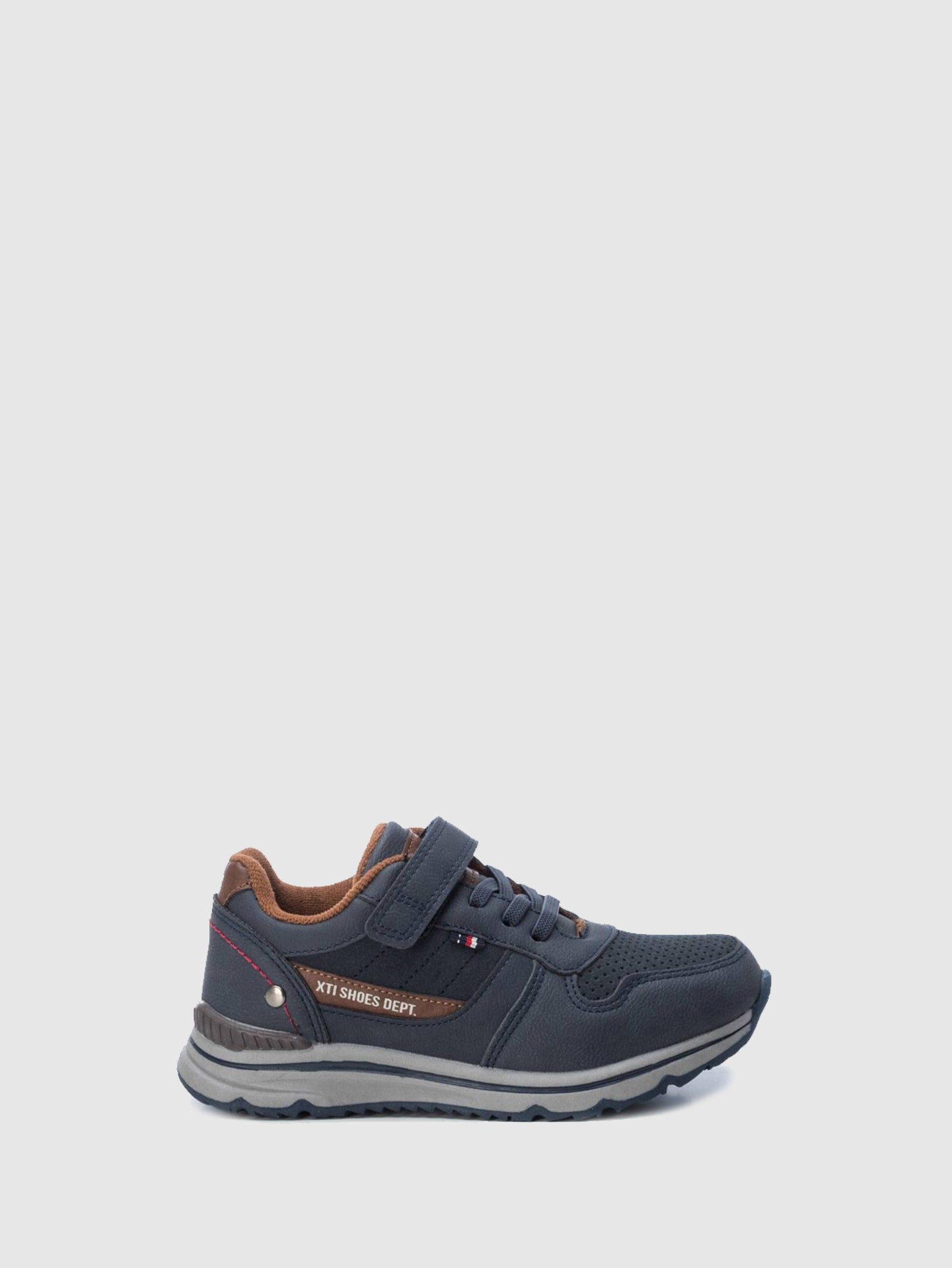XTI Kids Navy Velcro Trainers