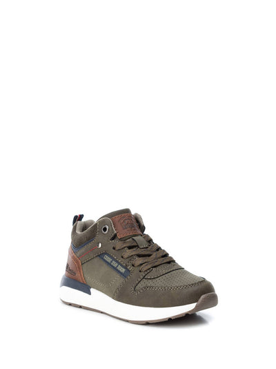 XTI Kids Khaki Lace-up Trainers