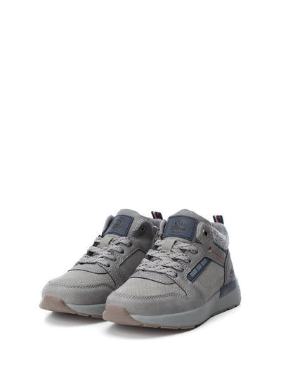 XTI Kids Gray Lace-up Trainers