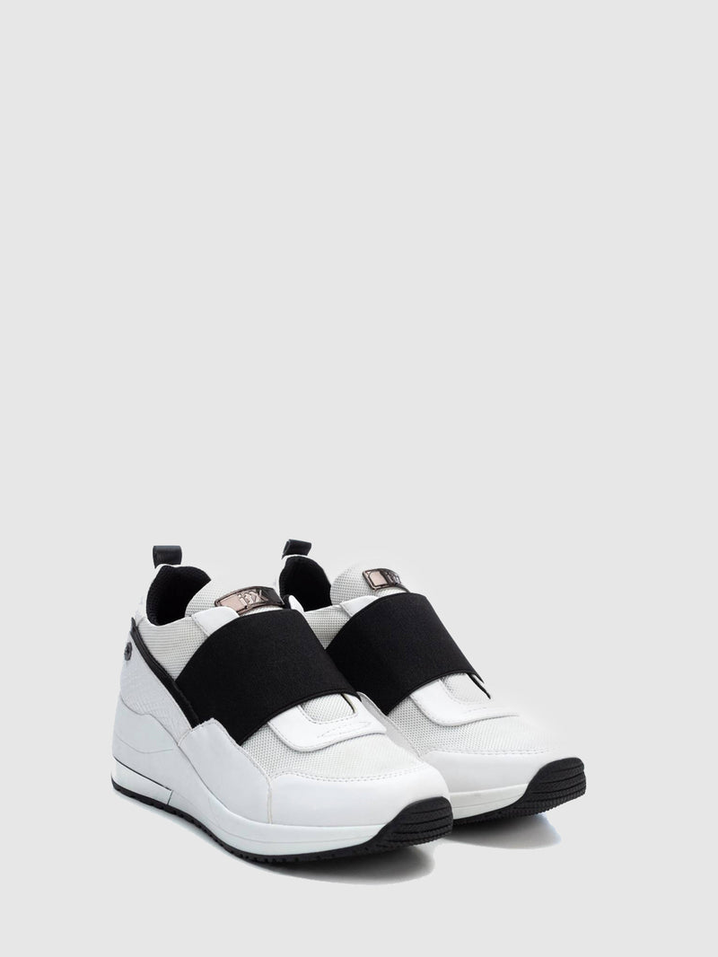 XTI White Elasticated Trainers
