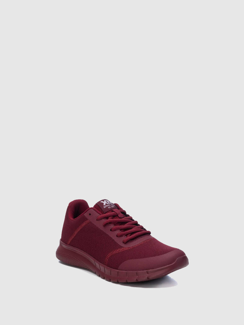 XTI Basic Red Lace-up Trainers