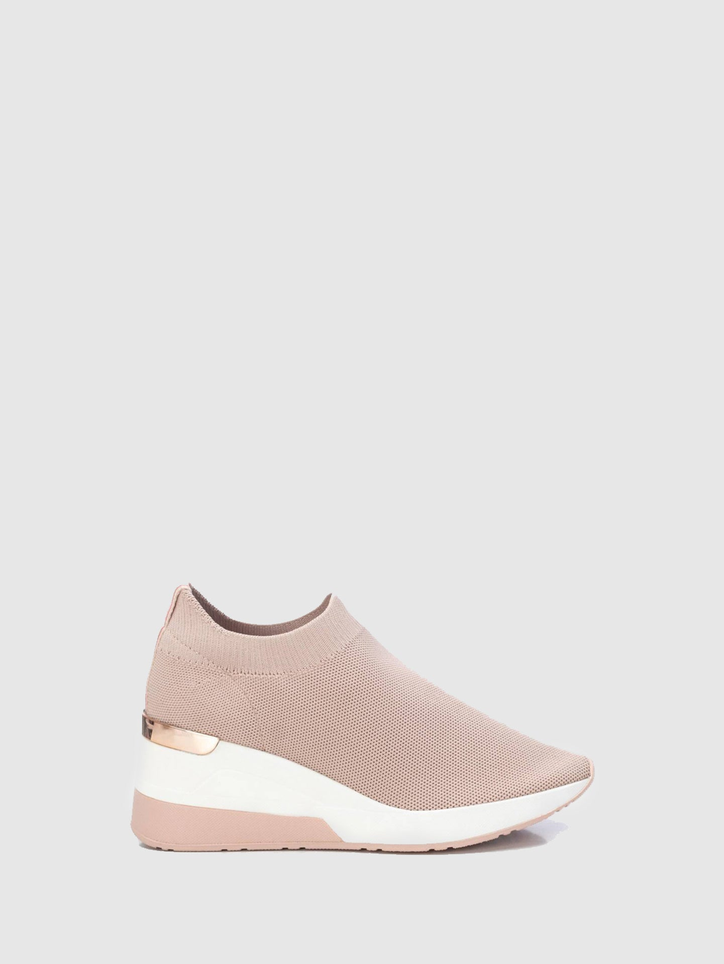 XTI Basic Pink Wedge Trainers