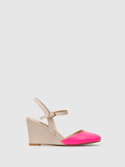 Yull Pink Buckle Shoes