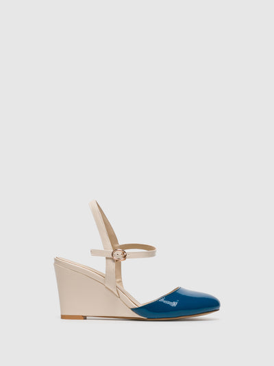 Yull Navy Buckle Shoes