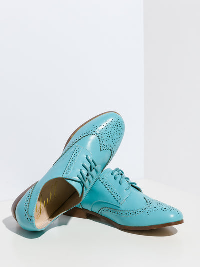 Yull Blue Oxford Shoes