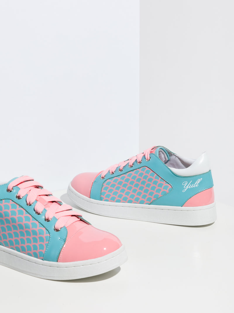 Multicolor Lace-Up Trainers