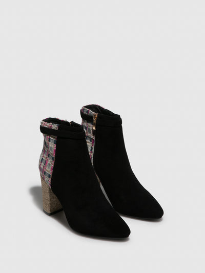 Yull Black Pointed Toe Ankle Boots