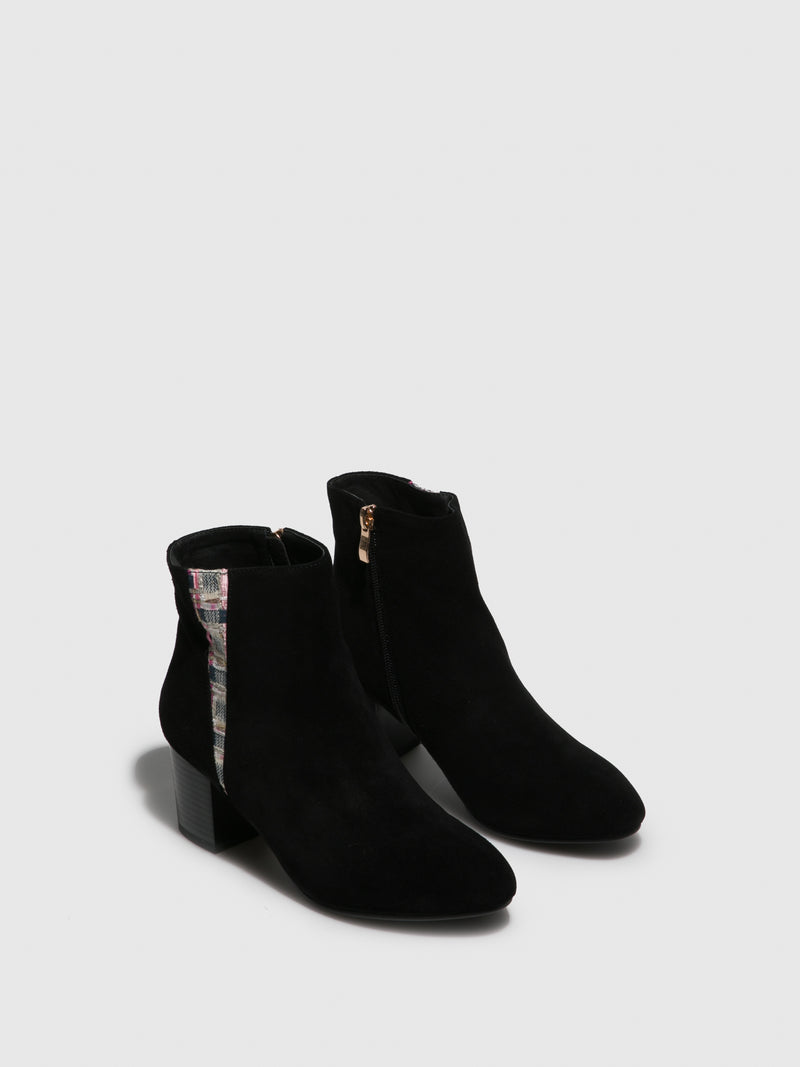 Black Round Toe Ankle Boots