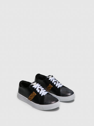 Yull Black Lace-up Trainers