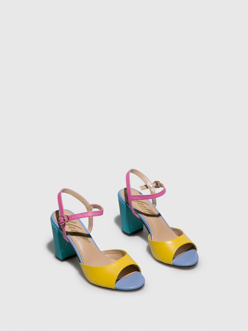 Multicolor Buckle Sandals