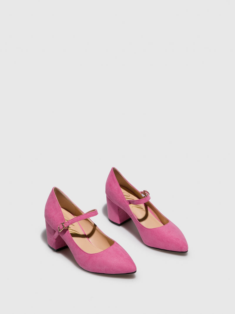 Pink Pointed Toe Shoes