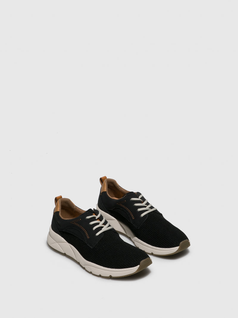 Camel Active Black Lace-up Trainers