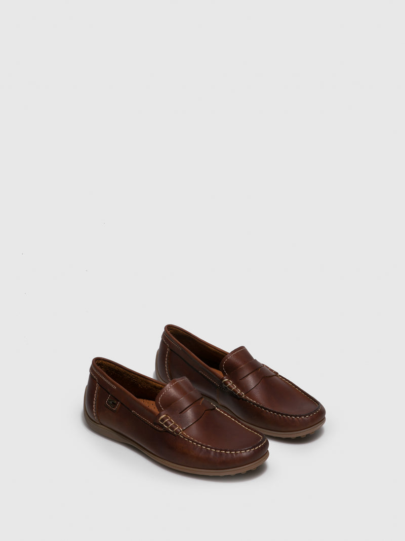 Camel Slip-on Shoes