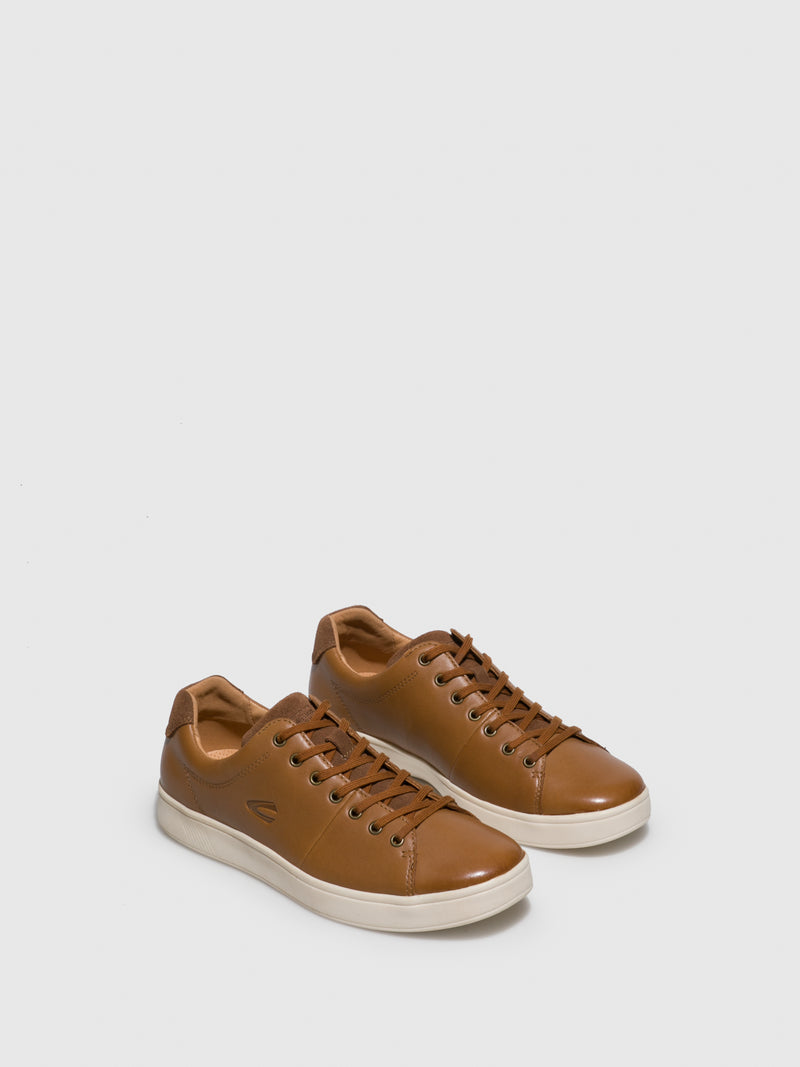Camel Lace-up Trainers