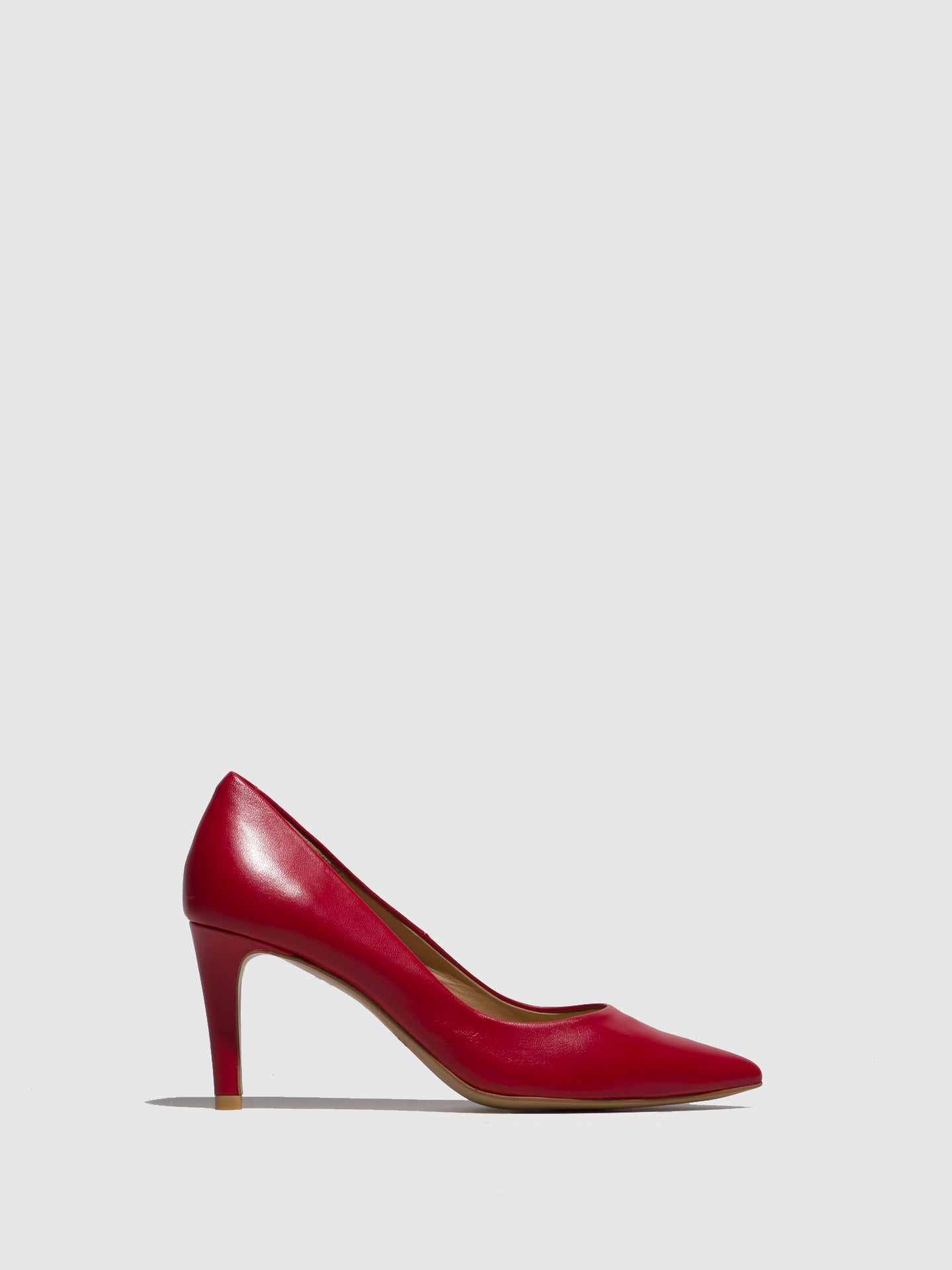 Perlato Red Pointed Toe Shoes