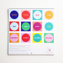 2020 Bilingual Wall Calendar - English-French