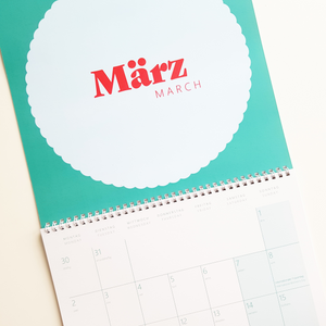 2020 Bilingual Wall Calendar - English-German