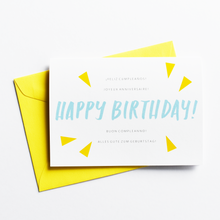 A Multilingual Birthday - Birthday Card in French, Italian, Spanish, German and English