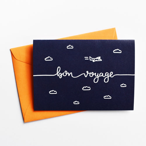 Bon voyage - Greeting Card in French