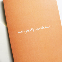 Un petit cadeau - Gift Card in French