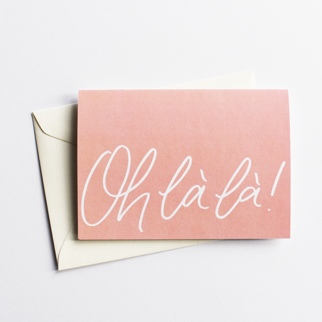 Oh là là! - Congratulations Card in French