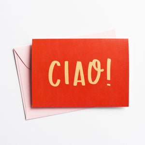Ciao! - Greeting Card in Italian