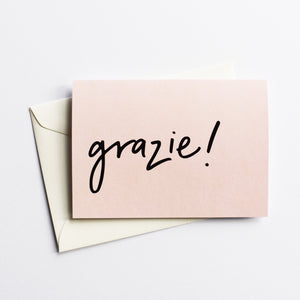 Grazie! - Thank You Card in Italian