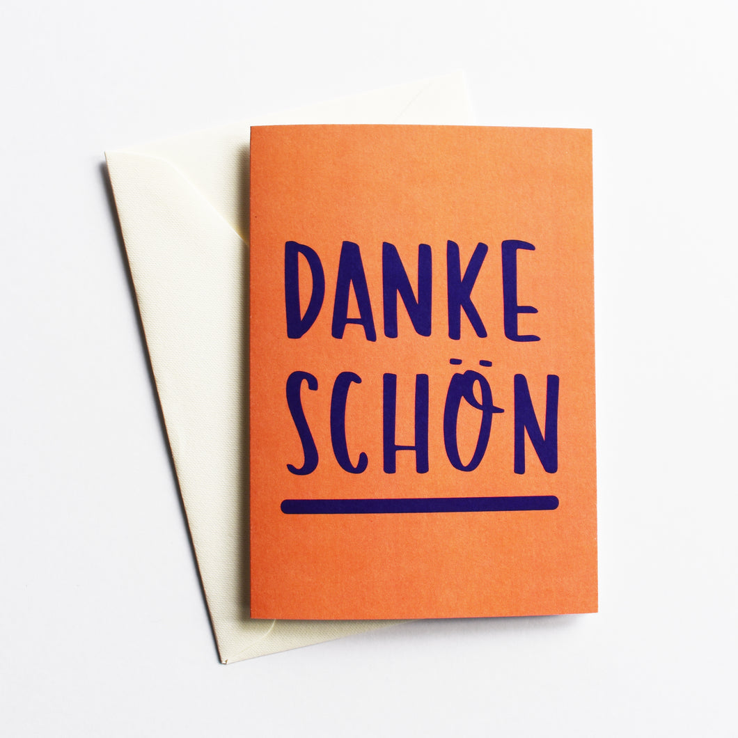 Danke schön - Thank You Card in German