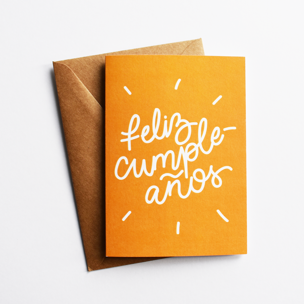 Feliz cumpleaños - Birthday Card in Spanish