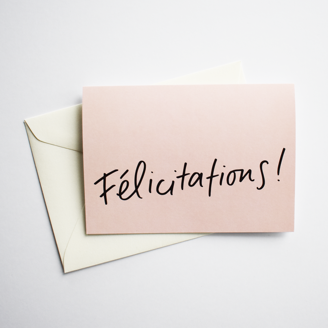 Félicitations! - Congratulations Card in French