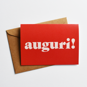 Auguri! - Congratulations Card in Italian