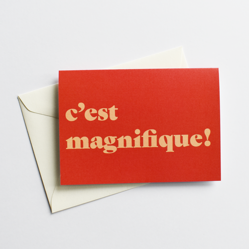 C'est magnifique! - Fun Congratulations Card in French