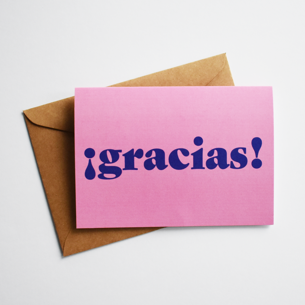 ¡Gracias! - Thank You Card in Spanish