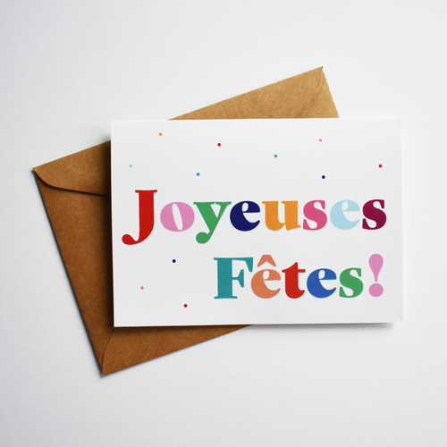 Joyeuses fêtes - Festive / Christmas / New Year Card in French