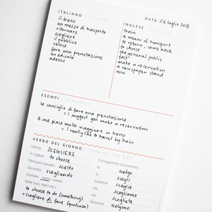 A5 Daily Practice Notepad for Italian Learners