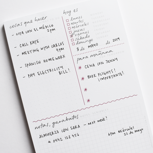 A5 To-Do List Notepad - English-Spanish