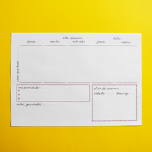 PRINTABLE - A4 Weekly Planner Notepad - English-Spanish