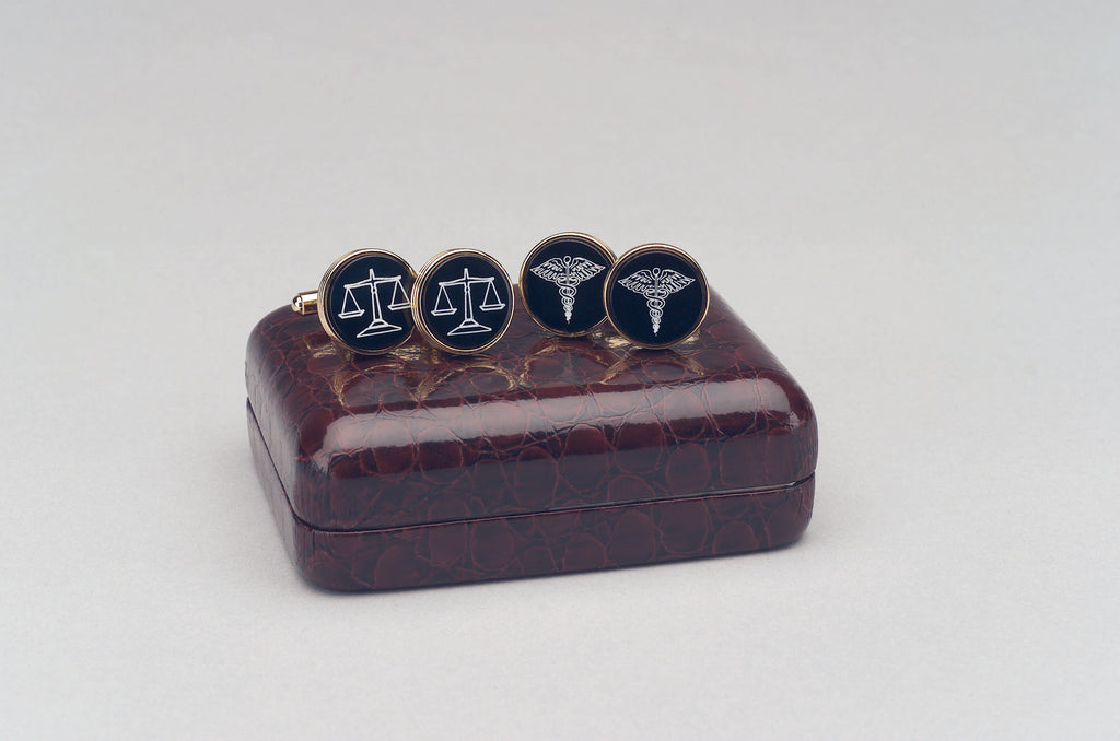 CUFFLINKS FOR LAWYERS WITH SCALES OF JUSTICE - Item # 0241
