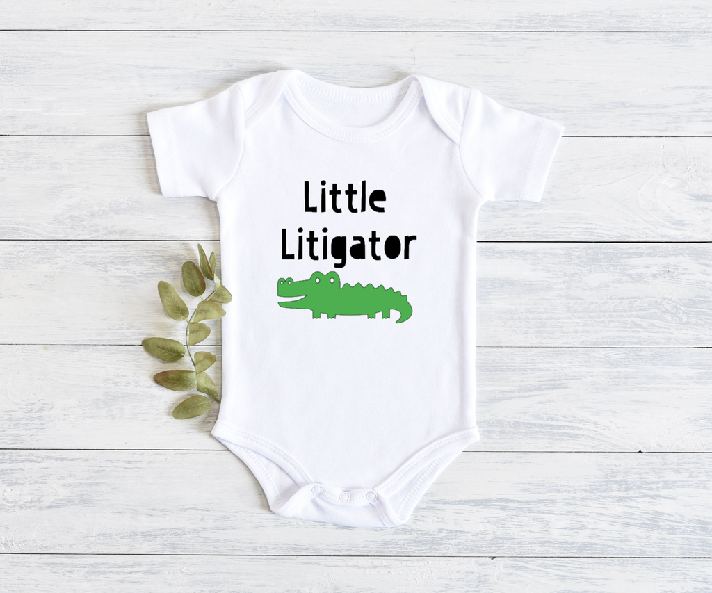 Little Litigator Onesie, Item 10001 Now Available as a Baby BIB!