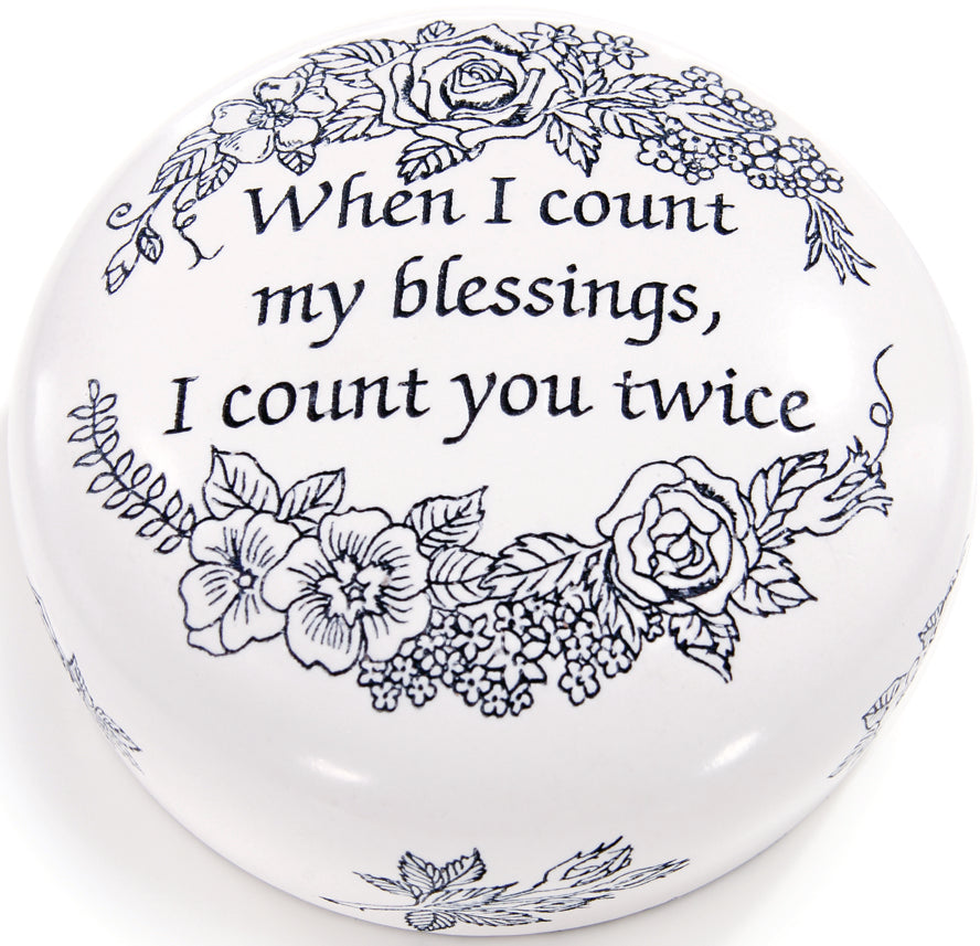 COUNT YOUR BLESSINGS PAPERWEIGHT - Item #1017