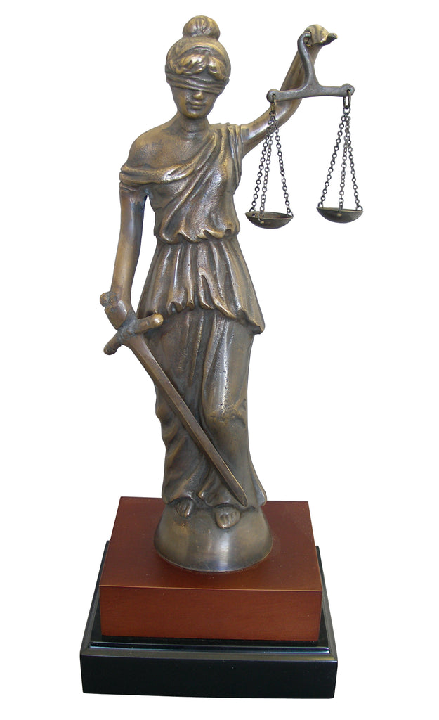 Lady of Justice  Bronze Statue- Item #1180